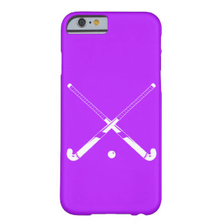 iPhone 6 case Field Hockey Silhouette Purple Barely There iPhone 6 Case
