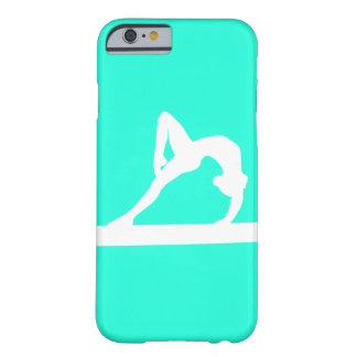 iPhone 6 case Gymnast Silhouette White on Turquois
