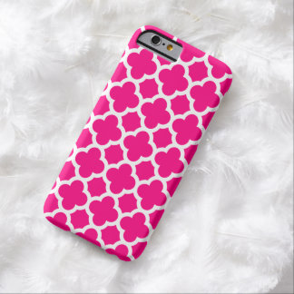 iPhone 6 Case - Hot Pink Quatrefoil Barely There iPhone 6 Case