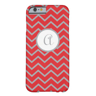 iPhone 6 case Personalized, Red with Gray Chevrons Barely There iPhone 6 Case