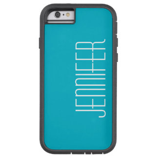iPhone 6 Case,  Scuba Blue, Personalized Tough Xtreme iPhone 6 Case
