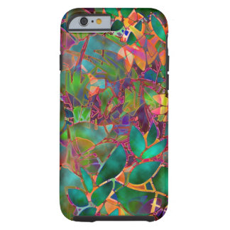 iPhone 6 case Shell Floral Abstract Stained Glass Tough iPhone 6 Case