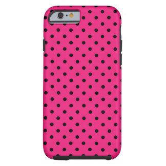 iPhone 6 case Shell Hot Pink Polka Dot Tough iPhone 6 Case
