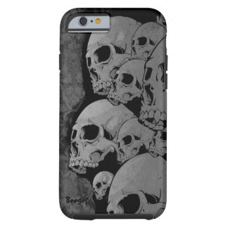 iPhone 6 case tough - Zombie Skulls
