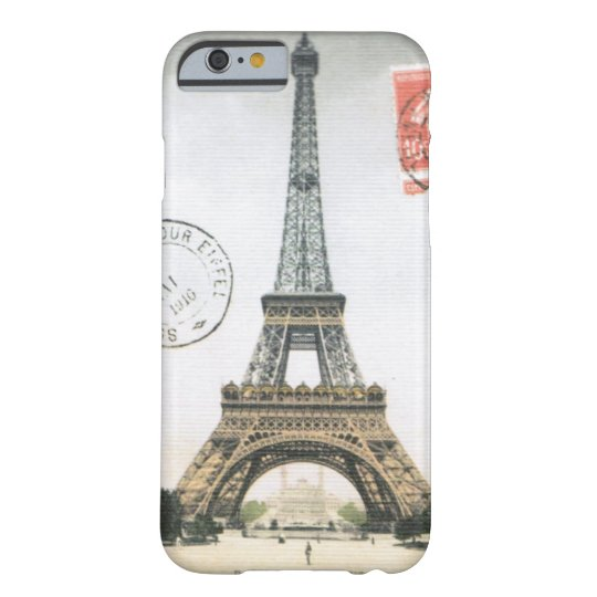 iPhone 6 case- Vintage Eiffel Tower Barely There iPhone 6 Case