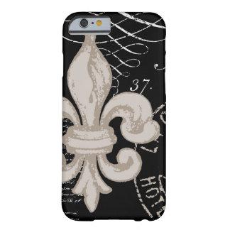 iPhone 6 case-Vintage Fleur de Lis Barely There iPhone 6 Case