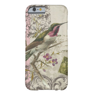 iPhone 6 case-Vintage Hummingbird Barely There iPhone 6 Case