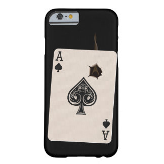 iPhone 6 case with Ace of Spades with bullet hole