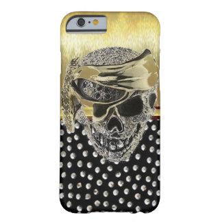 iPhone 6 Cool Metallic Gold Skull Design Case