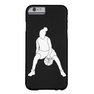 iPhone 6 Dribble Silhouette White/Black Barely There iPhone 6 Case