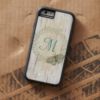 iPhone 6 Monogram and watercolor background case