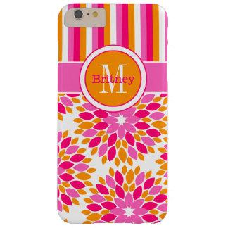 iPhone 6 Plus Case | Floral, Stripes | Pink Orange
