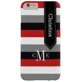 iPhone 6 Plus Case | Stripes | Red, Gray, Black