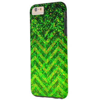 iPhone 6 Plus Case Tough Zig Zag Sparkley Texture