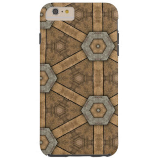 iPhone 6 Plus, Tough - Brown Pattern Tough iPhone 6 Plus Case