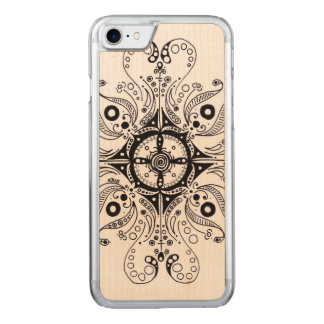 iPhone 6 Slim Maple Wood with Henna Design Carved iPhone 7 Case
