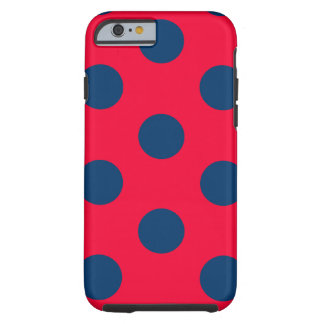 iPhone 6 Tough Case : Polka Dot (Red & Blue)