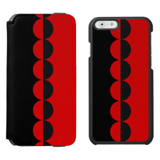 iPhone 6 Wallet Case, Black and Red Incipio Watson™ iPhone 6 Wallet Case