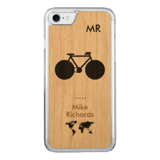 iPhone 6 with black bike on wood Carved iPhone 8/7 Case