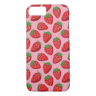 Iphone 7/8 barely there case, strawberries pink iPhone 8/7 case