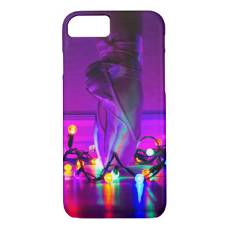 iPhone 7/8 Case - Christmas Lights & Pointe Shoes