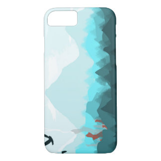 iPhone 7, Barely There case Blue Mountain Range