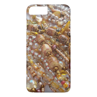 iPhone 7+, Barely There Case- Earthtone Bead Print Case-Mate iPhone Case