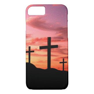 iPhone 7 case - 3 Cross religious horizon