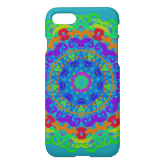 iPhone 7 case Aqua Kaleidoscope