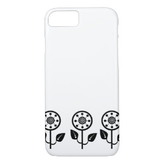 iPhone 7 case black white floral pattern