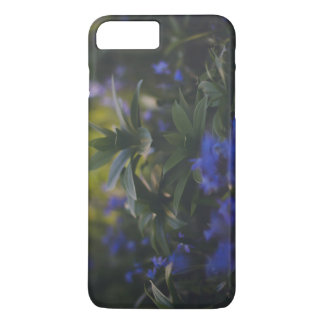 Iphone 7 Case blue flowering green plant