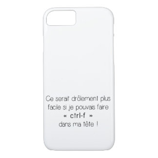 iPhone 7 Case - ctrl-f (French)