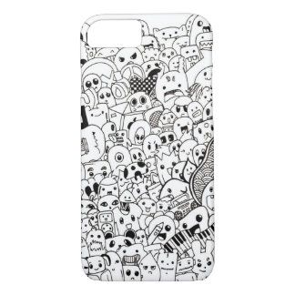 iPhone 7 case Cute little monster doodle