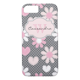iPhone 7 Case | Daisies | Polka Dots | Hearts