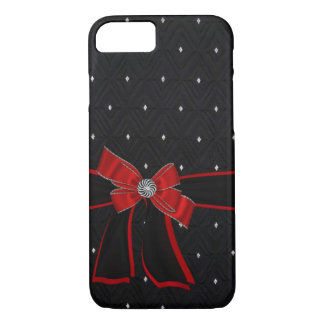 iPhone 7 Case Faux Rhinestone,Ribbon & Bow Designs