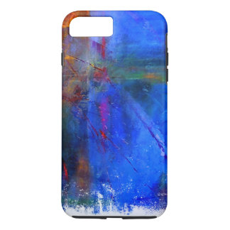 iPhone 7 Case Featuring Colorful Blue Abstract