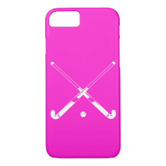 iPhone 7 case Field Hockey Silhouette Pink