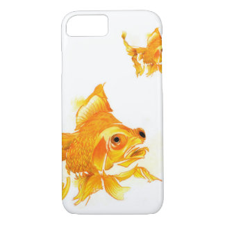 iPhone 7 Case: Goldfish Drawing iPhone 8/7 Case