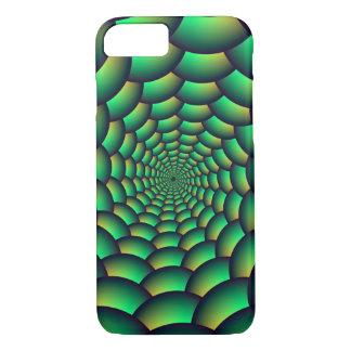 iPhone 7 Case Green Ball Spiral Tunnel