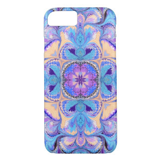 iPhone 7 Case Kaleidoscope Aqua Purple