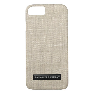iPhone 7 Case - KS Signature Linen Name