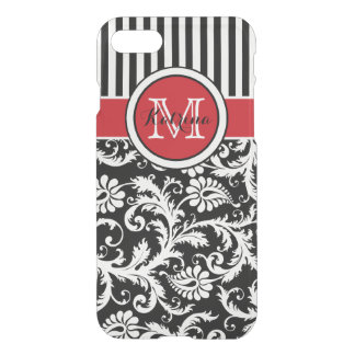 iPhone 7 Case | Monogrammed Red, Black, White