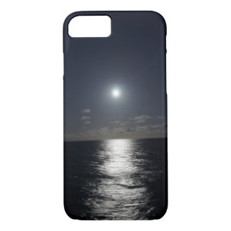 iPhone 7 Case Moon & Ocean Beach at Night