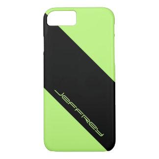iPhone 7 Case, Neon Green & Black, One Stripe iPhone 7 Case