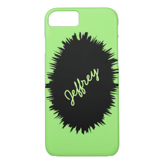 iPhone 7 Case, Neon Green & Black, Personalized iPhone 7 Case