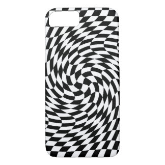 iPhone 7 case - Optical Illusion Black/White 3