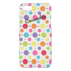 iPhone 7 Case | Personalized Rainbow Polka Dots