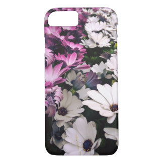 iphone 7 case, phone case, purple and white flower iPhone 8/7 case