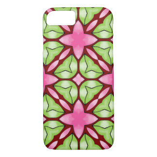 iPhone 7 Case Pink and Green Pattern