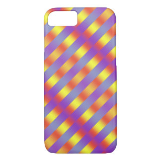 iPhone 7 Case Pink Blue Yellow Stripes